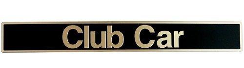 Club Car PRECEDENT Golf Cart Name Plate Emblem Black / Gold by Parts Direct
