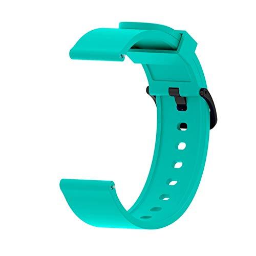 YONGLI Silicone Sport Watch Band para Xiaomi Huami Amazfit BIP Watch Active Smart Watch Strap 20mm Watch Reemplazo Nueva Correa (Color : Green)