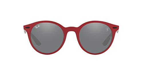 Ray-Ban 0RB4296M Gafas, MATTE RED, 50 Unisex Adulto