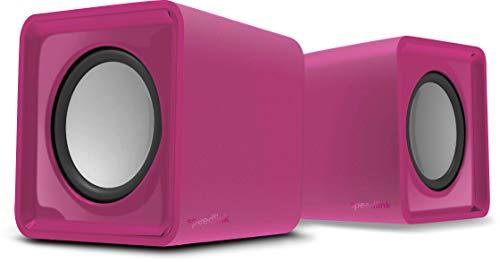 Speedlink TWOXO Altavoz estéreo - Altavoz Compacto, Compatible con PC, Tablet, Smartphone, Rosa