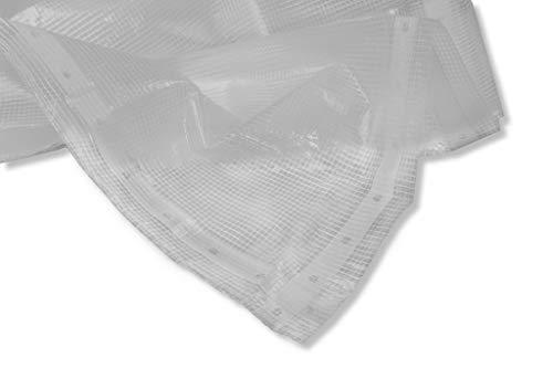 Professioneel roosterzeil 4x8m - 220 g/m2 (!) Roosterfolie, raamfolie, folie voor broeikas, tuingfolie, uv-folie, uv-bestendige folie, 2 jaar uv-garantie, wit, transparant