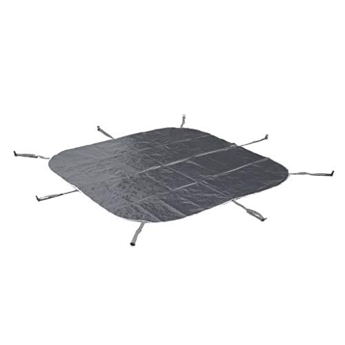 Spa MSPA Gonflable carré – Fjord 4 Gris - Jacuzzi 4 Personnes carré 160cm, PVC, Pompe, Chauffage, gonfleur, Filtre, bâche, Tapis de Sol et télécommande de contrôle
