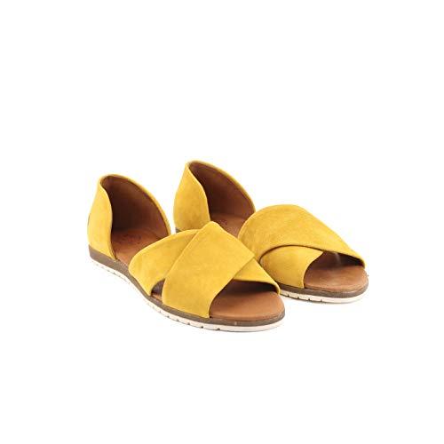 Apple of Eden CHIUSI 23 - Damen Schuhe offene Schuhe - Yellow, Größe:40 EU