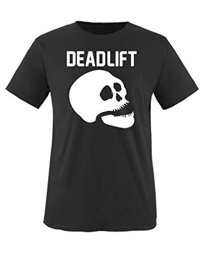 Comedy Shirts - Dead Lift - Halloween - Mädchen T-Shirt - Schwarz/Weiss Gr. 110-116