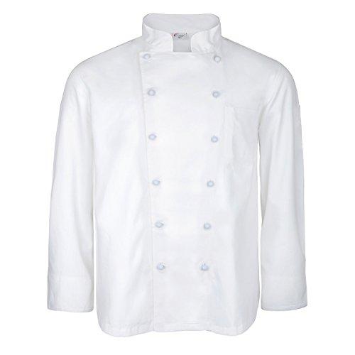 Unbekannt XXL M&S weiße Koch- und Bäckerjacke mit langem Arm, XL Größe:5XL