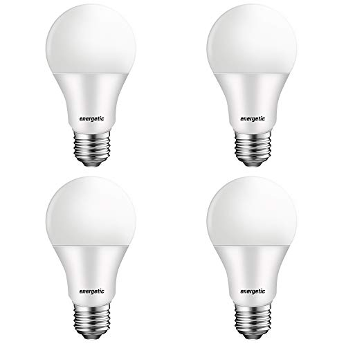 40 Watts 2700K Soft White A19 LED Light Bulbs, 450 Lumens, Non-dimmable, UL Listed, E26 Base, 4 Pack