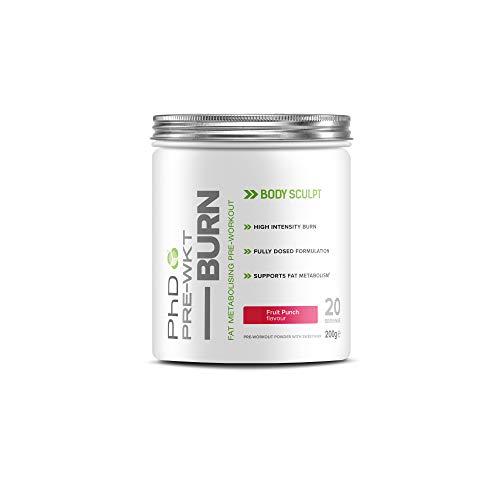 PHD Nutrition Pre Workout Burn - Fruchtpunsch - 200g