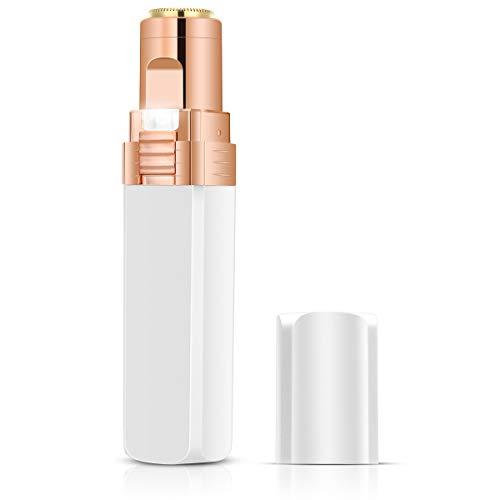Removedor de vello facial sin dolor para mujeres, afeitadora impecable con luz LED alimentada por batería, lápiz labial Minisyle portátil para depilación al aire libre viajes