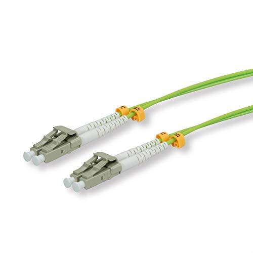 ROLINE LWL nätverkskabel I LC LC multimode glasfiberkabel I OM5 duplex patchkabel I 2 m grön