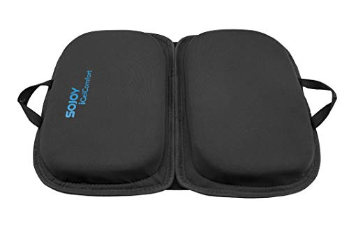 """Sojoy iGelComfort 3 in 1 Foldable Gel Seat Cushion Featured with Memory Foam (A Must-Have Travel Cushion! Smart, Easy Travel Cushion) (Size: 18.5"""" x 15"""" x 2"""")"""