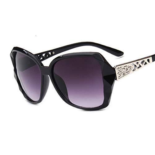 JIANCHEN Gafas de Sol Fashion Square Gafas de Sol Señoras Grandes Gafas de Sol Púrpura Púrpura Femenina Sombra Sombra Damas Oculos De Sol Feminino (Color : 1)