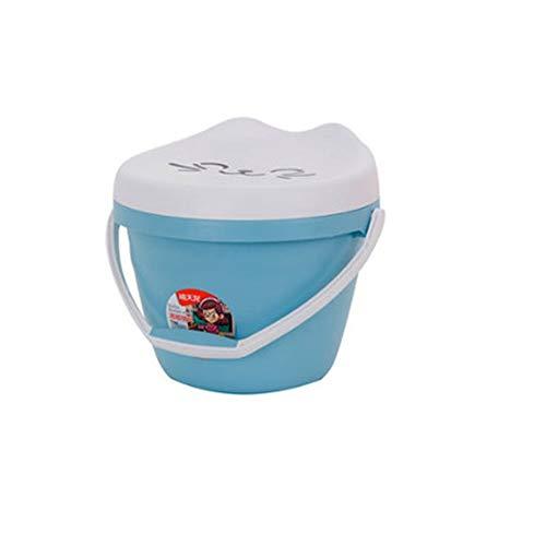 WOAINI Sedili da Doccia, Sgabelli da Pesca in plastica per Bambini, sgabuzzino Impermeabile di stoccaggio a barilotto / 11,34x10,4 Pollici (Color : Blue, Size : 11.34x10.4inches)