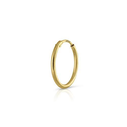 Piercing Oro de Ley Certificado. Mujer. ARO de 10 mm tubo 1.mm (4-5115-10)