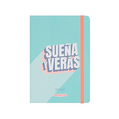 Mr. Wonderful Agenda pequeña clásica 2021-2022 Día visto - Sueña y verás, Multicolor