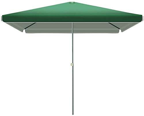 Guarda-sol compacto 2,5 m 2,5 m guarda-chuva retangular jardim guarda-sol deslocado cantilever impermeável resistente a UV para ambientes externos/jardins/varanda/pátio, tenda vermelho-verde