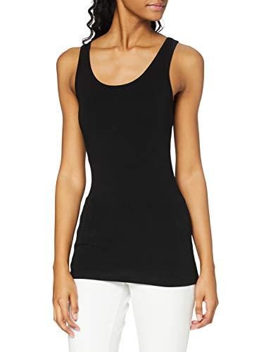 ONLY Damen Onllive Love Tank Noos Top, Schwarz (Black Black), 36 (Herstellergröße: S)