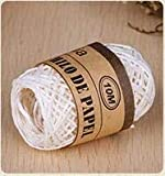 LIUL 10 M/Roll DIY Raffia Ribbon Cord Rope For Palm Packaging Paper Rope Caja de Regalo Embalaje Wedding Party Decoration, Blanco