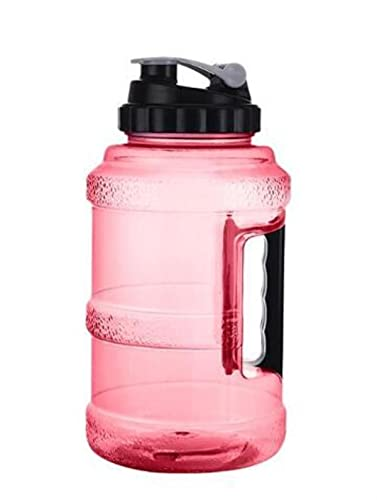 Jarra de agua - Botella de agua grande de 2.5L Botella de agua reutilizable grande Plástico A prueba de fugas Inodoro Hervidor de boca ancha Gimnasio Fitness OutdoorWF-Red