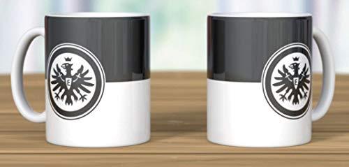 Eintracht Frankfurt mok, beker logo zwart/wit