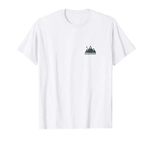 Minimalistische Lawine Schnee Gletschers Felsig Berg Berge T-Shirt