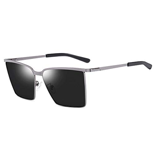 SWNN Sunglasses Viaje Playa Deportes Al Aire Libre Ciclismo Hombres/Mujeres Gafas De Sol Polarizadas Protección UV Deslumbramiento Marco De Metal Ultra Ligero (Color : Gray)