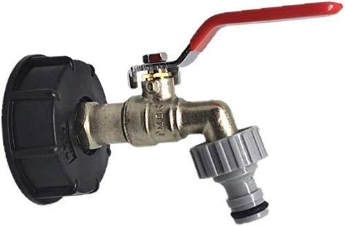 Adaptador de tanque Conector de rosca Piezas de conexión de válvula de repuesto Adaptador de drenaje a conexión de manguera 1/2 Piezas de conexión de manguera de tanque de almacenamiento