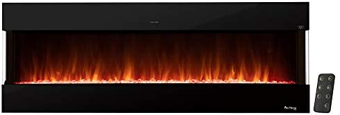e Flame USA Hampshire 60 inch Wall Mount Wall Insert LED Electric Fireplace with Timer 3 D Logs product image