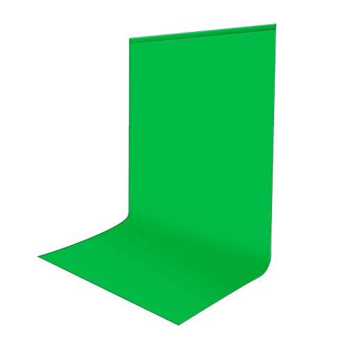 Sfondo Verde Foto Video 1,8 x 2,8m, Bonvvie Sfondo Fotografico Resistente Alle Rughe, Lavabile Greenscreen Mussola Chromakey per Studio Fotografia, Televisione, Zoom, YouTube, Riunioni Online