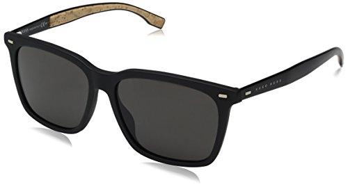 Hugo Boss Herren 0883/S Nr Sonnenbrille, Schwarz (Matt Black/BRW Grey), 56