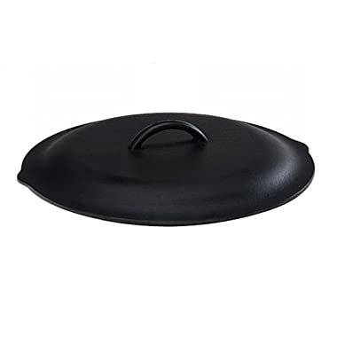Lodge 12 Inch Cast Iron Lid. Classic 12-Inch Cast Iron Cover Lid with Handle and Interior Basting Tips.