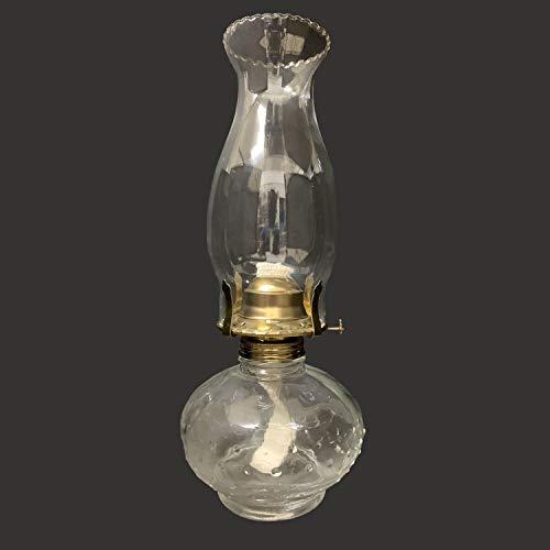 """xinke 12""""Lámparas De Aceite para Uso En Interiores 70s Linternas De Cristal Rústicas Parafina Líquida Decorativa, Keroseno Linterna De Combustible(Size:30.5cm,Color:Claro)"""