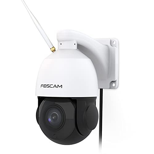 Foscam SD2X 18X Optical Zoom 1080P HD Outdoor PTZ Security Camera, 2.4g/5gHz WiFi IP Surveillance camera,Speed Dome, 165ft Night Vision, IP66, WDR, Built-in Audio, Works with Alexa Google Assistant