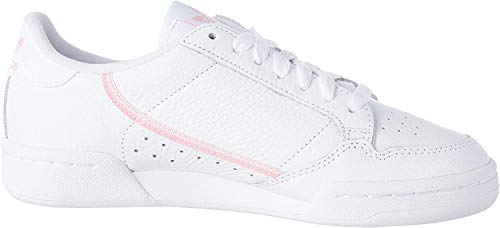 adidas Continental 80 W, Scarpe da Ginnastica Donna, Bianco (Cloud White/True Pink/Clear Pink), 38 EU
