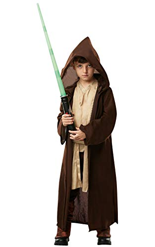 Star Wars - Disfraz Túnica Jedi Premium para niños, infantil 7-8 años (Rubie's 640274-L)