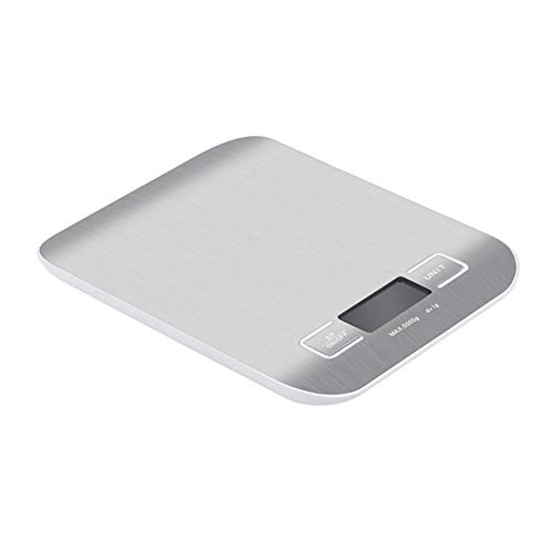 SUNQQA Haushalt Digitale Küchenwaage Werkzeuge 10000 g / 5000g Kochen Lebensmittel Diät kulinarische Waage Electrinic Waage LCD mit einem Gewicht von (Color : Silver, Load Bearing : 10Kg)