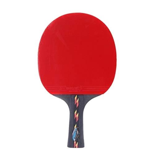 Paleta De Ping Pong Bolso de la Caja de murciélago de la Raqueta del Pong de la Raqueta de la Mesa Se Dan La Mano Grips (Color : Red, Size : One Size)