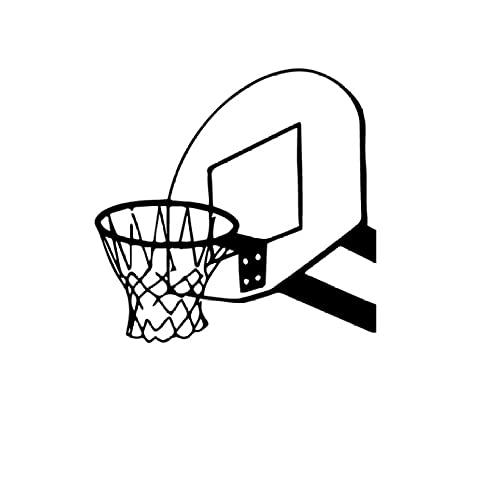 Etiqueta Engomada De La Pared Mural Vinilo Decorativos Adhesivos Desmontable Mural Oficina Dormitorio Salón Decoración Canasta de baloncesto 57x58cm
