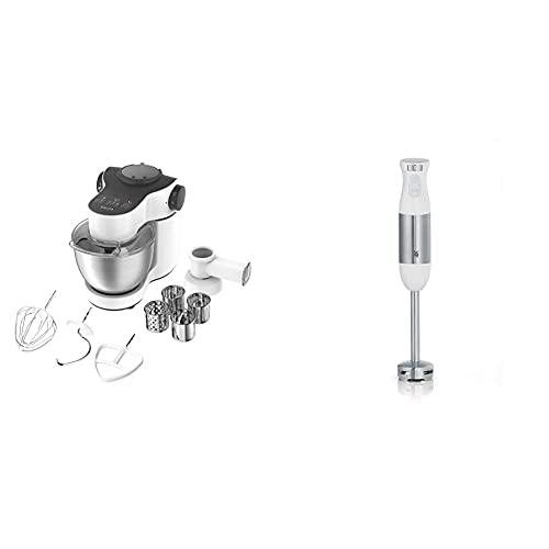 Krups KA3121 Master Perfect Küchenmaschine; 1.000 Watt; 7 Geschwindigkeiten + Pulse- Funktion; 4L Edelstahlschüssel & WMF Kult S Stabmixer, 500 W, Pürierstab mit variabler Geschwindigkeitseinstellung