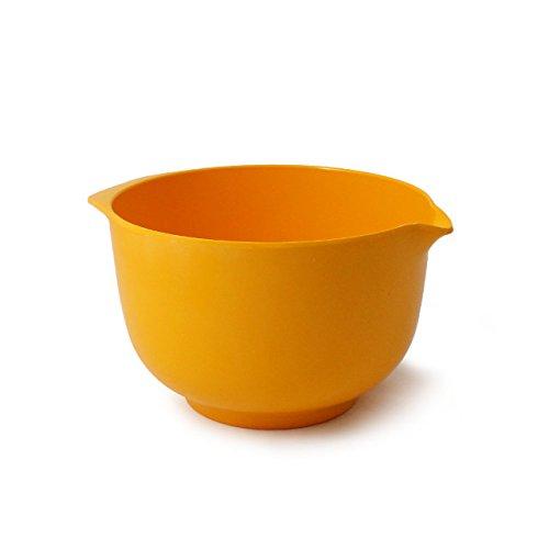 CARTAFFINI-Bol à pâtisserie en Mélamine 2 L Diamètre : 18,5 cm/H 12,2 cm-Couleur : Jaune