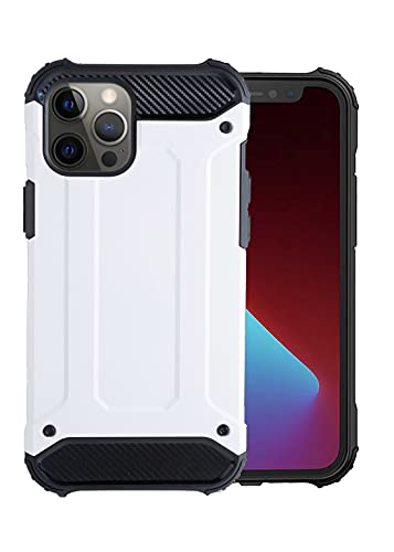 Solid Rugged Case Best fit for Apple iPhone 12/12 Pro Case - Military Grade and Thick Armor Tactical Protective Case (White)