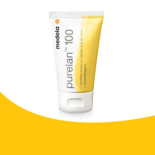 Medela Tube PureLan 100, Lanoline Allaitement 100% Naturelle, Soigne et Protège les Mamelons Douloureux et Sensibles, Tube 37 g