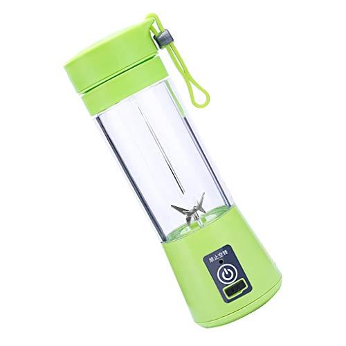 Arichtops Portable Presse-Agrumes électrique Machine Multifonction 380ml de jus de Fruits USB Mixer Blender, Vert