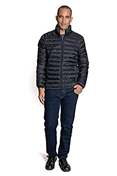 ZeroXposur Men s Lightweight Quilted Puffer Jacket Black Small
