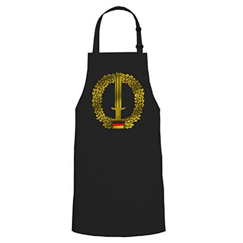 KSK insigne de béret Griller Party cadeau – Tablier/Tablier de barbecue # 16812 - Noir - Taille unique