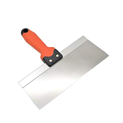 Stainless Steel Putty Knife Taping Paint Scraper Broad Blade with Plastic Handle Premium Quality 20cm