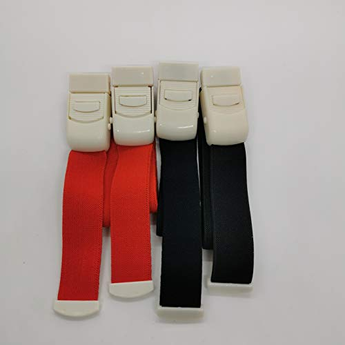 Ellsang Tourniquet Elastic First Aid Quick Release Medical Sport Emergency Buckle Band(2 Black+2 Red)