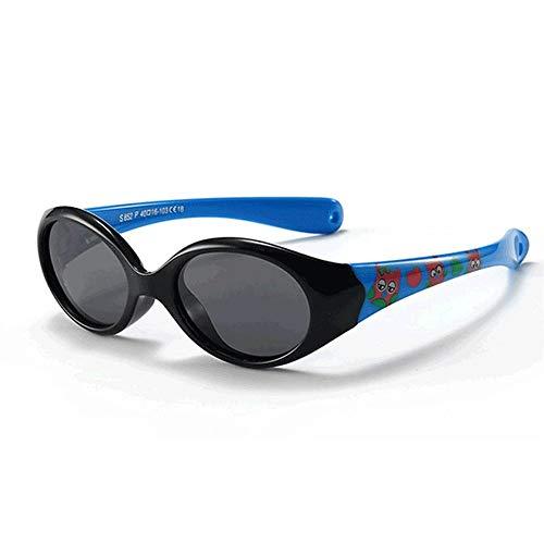 QDEC QDE Sonnenbrillen Kleine Kindersonnenbrille Polarisierte Für 1 2 3 Jahre Alte Kinderbrillen Für Baby-Flexible Sicherheitsfarbtöne Junge Mädchen Mit Seil, G