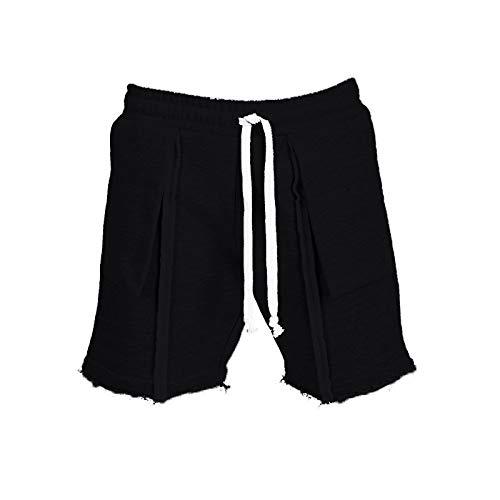 Pantalones Cortos con Bolsillos Grandes con Costuras de Tendencia para Hombre, Ropa de Calle a la Moda, Pantalones Cortos Deportivos Rectos básicos de Color sólido relajados Informales 3XL