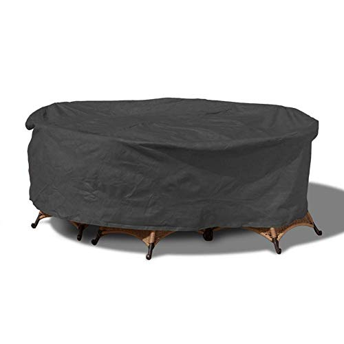 TQJ Dust Covers for Furniture Garden Furniture Covers,Outdoor Sectional Furniture Set Covers, Table Chair Sofa Winter Covers, Fadeproof,Anti-Uv,Waterproof Snow Dust Wind Proof,Black