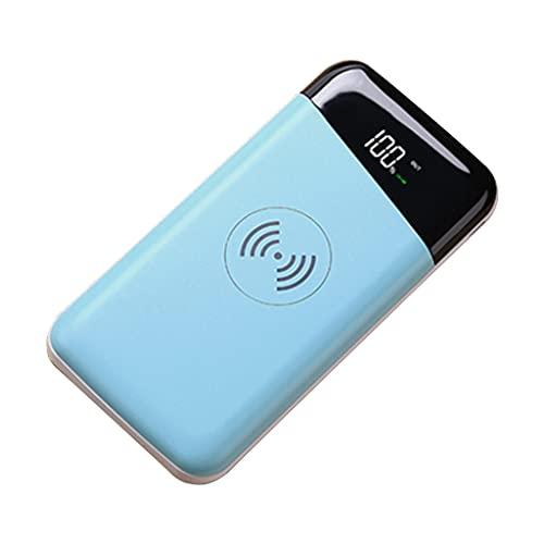 NKDD Cargador portátil de 10000 mAh, Banco de energía de Alta Capacidad con Salida rápida de 2 A / 10 W, Paquete de batería Externa para teléfonos móviles, Banco de energía inalámbrico, Azul